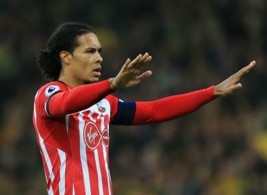Southampton captain Virgil van Dijk.