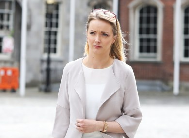 Witness Clair Tobin arrives at the Disclosures Tribunal in Dublin Castle.