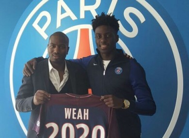 Timothy Weah has signed a pro contract with PSG.