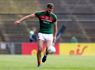 Aidan O'Shea will make his 100th appearance for Mayo on Saturday.