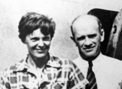 Amelia Earhart, left, and her navigator, Fred Noonan disappeared after taking off from a Pacific island.