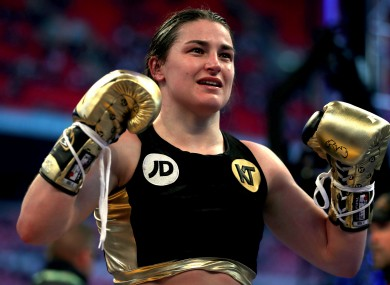 Taylor has won all five of her pro fights so far.