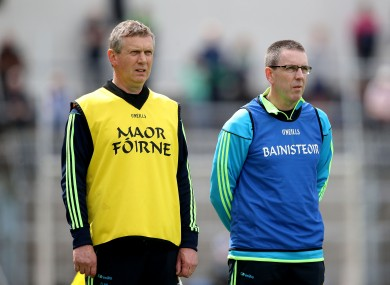 Clare joint managers Donal Moloney and Gerry O'Connor.