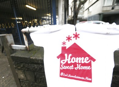A t-shirt hangs outside Apollo House on the first day of the occupation