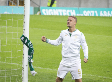Griffiths had objects thrown at him during the game by Linfield fans.