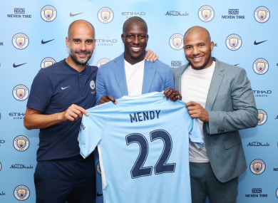 Mendy is unveiled by Man City.