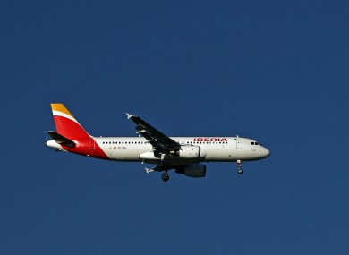 A stock photograph of an Iberia flight.