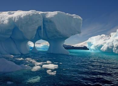 A melting iceberg in Antarctica. (File photo)