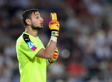Donnarumma featured for Italy during this summer's U21 European Championships.