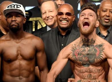 Conor McGregor faces Floyd Mayweather early Sunday morning Irish time.