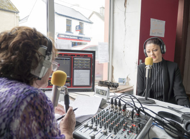Volunteers hosting a show on Kinvara FM