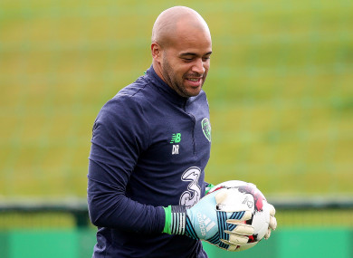 Randolph during Ireland training this week.