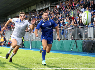 Dave Kearney won the race to score Leinster's second try.