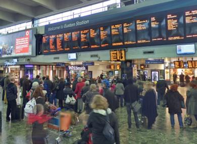 File photo of the inside of Euston station.