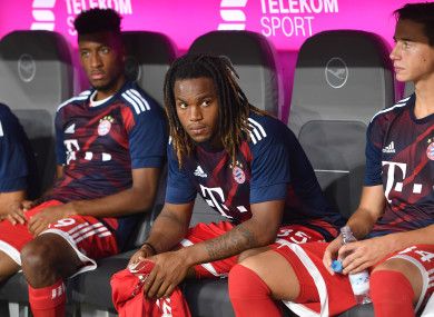 Renato Sanches (centre) has struggled for game time at Bayern.