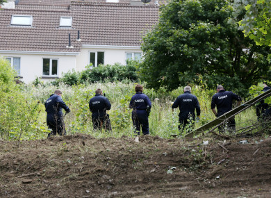 Gardaí search the area of woodland in Chapelizod.