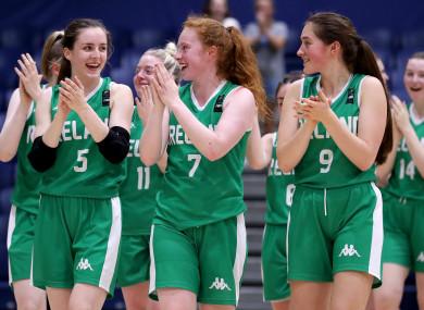 Ireland celebrate after Wednesday's win over Ukraine.