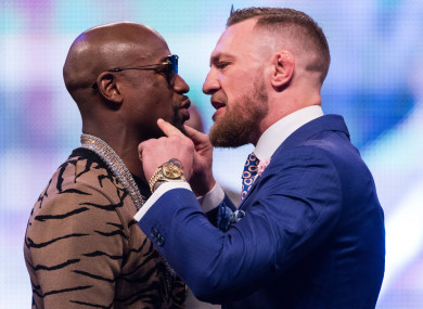 Mayweather and McGregor World Tour in London in July.