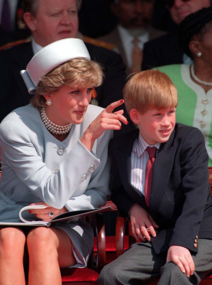 Princess Diana with her son Prince Harry in 1995