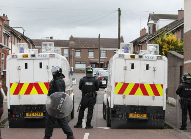 File photo of PSNI officers.