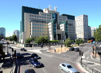 A file photo of MI6 HQ in London.