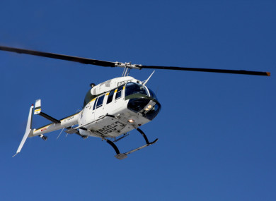 Stock photo of a police helicopter.