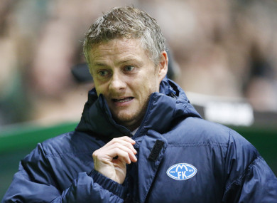 Ole Gunnar Solskjaer manages Molde's first team.