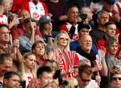 Southampton supporters (file pic).
