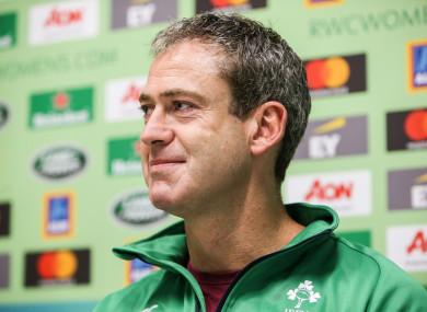 Ireland manager Tom Tierney.