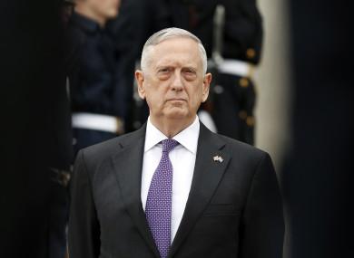 US Defense Secretary Jim Mattis