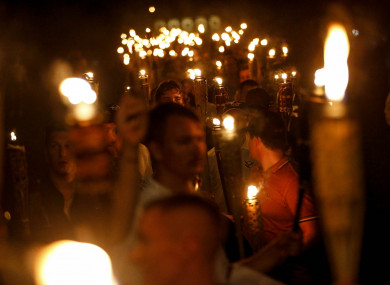 Multiple white nationalist groups march with torches through the UVA campus in Charlottesville earlier this month.