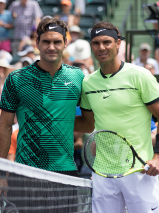 Federer and Nadal last met at the 2017 Miami Open final in April.