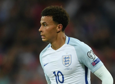 Dele Alli came under fire for giving a middle-finger gesture while playing for England.
