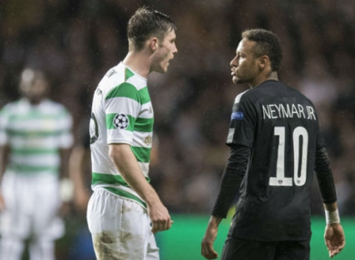 Neymar attracted controversy with his antics against Celtic.