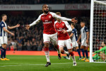 Lacazette on the double as Gunners down the Baggies