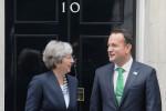 Prime Minister Theresa May greets Taoiseach Leo Varadkar ahead of a bilateral meeting at Downing Street in London.