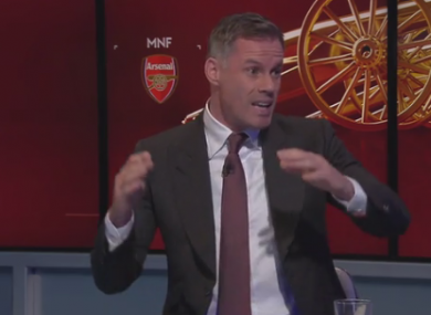 Carragher on last night's MNF.