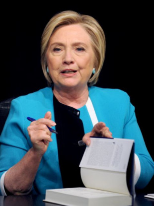 Clinton at a book signing in New York on Tuesday