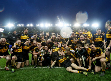 Dr Crokes players celebrating last March's All-Ireland club win.