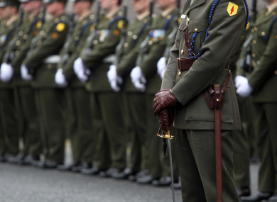 File photo of members of the Defence Forces.