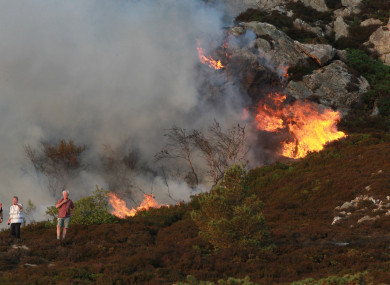 A gorse fire in Howth, Dublin in 2013.