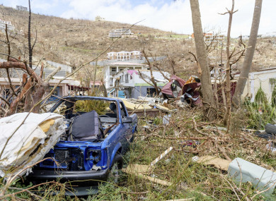 Damage from Hurricane Irma on the British Virgin Islands.