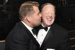 James Corden says he's 'disappointed' in himself for kissing Sean Spicer at the Emmys