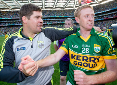 Éamonn Fitzmaurice and Colm Cooper after the 2014 All-Ireland final.