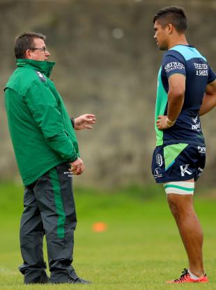 Kieran Keane and Jarrad Butler on the training ground this week.