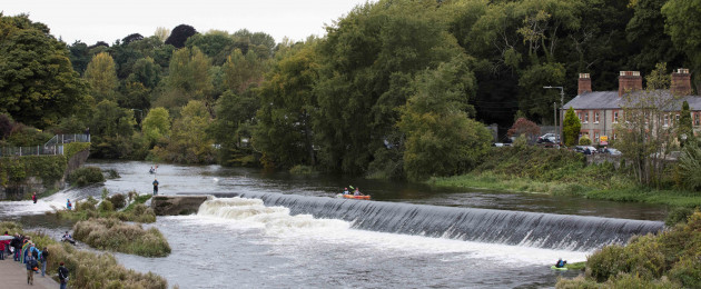 The 58th International Liffey Descent took place today. The race runs over 26.2 km from Straffan in Kildare to Islandbridge in Dublin..
