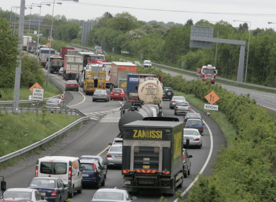 Traffic problems on the M7.