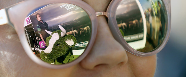 Ursula Giltenen wears shades at the National Ploughing Championships in Tullamore, Co Offaly.