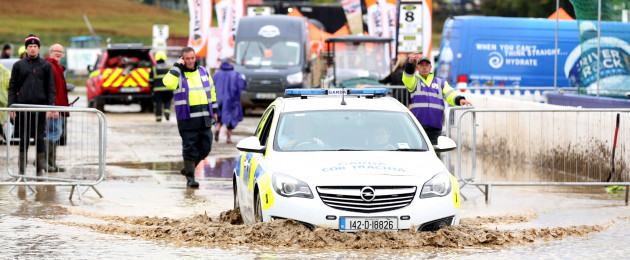 Torrential rain flooded the Ploughing Championships in Offaly today.