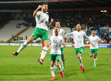 Daryl Murphy scored a late equaliser for Ireland in the 2-2 draw with Serbia in Belgrade last year.
